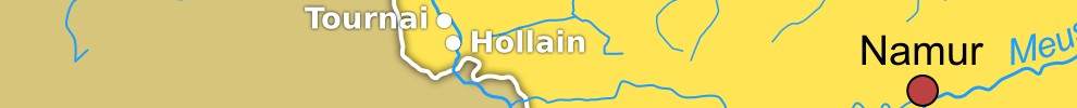 Position de Hollain sur la carte.